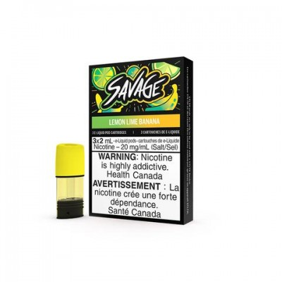 STLTH Savage Lemon Lime Banana Pods