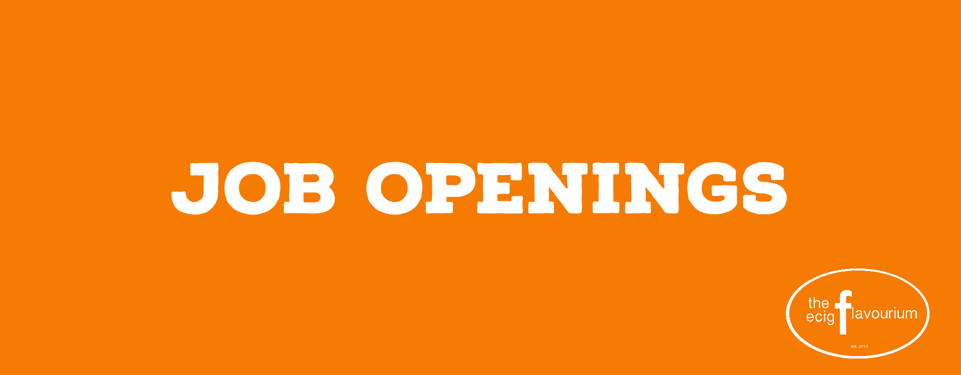 Job Opening Vape Shop Port Hope