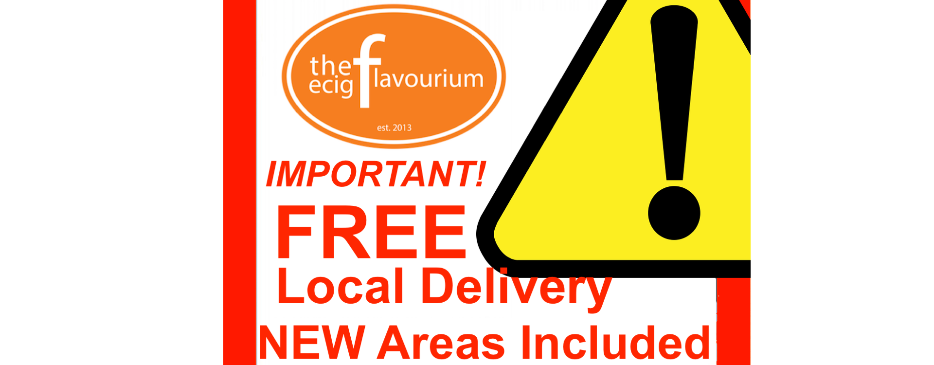 IMPORTANT: FREE Local Delivery Expanded To Include Additional Areas
